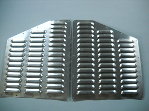 RodLouvers Pair of Jeep ZJ Hood Aluminum Louvered Cooling Panels (Bolt-on) Kit