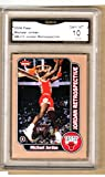 MICHAEL JORDAN 2008-09 FLEER Retrospective Card-GRADED-#MJ10-Bulls-10 GEM MINT