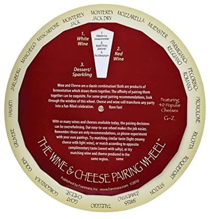 Complementary Wines and Cheeses Pairing Matching Guide Wheel Franmara 6137