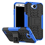 LG X Power 2 Case, B1ST LG V7 Case, LG K10 power Case,Military Tires Leather with Kickstand Heavy Duty Cover Impact Resistant Corner Protection Shockproof Anti-fall,Scratch Resistant TPU Soft Cover for LG X Power 2/K10 power/LV 7 (Blue)
