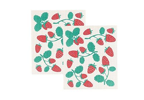 Now Designs Swedish Dishcloth, Set of Two, Strawberries