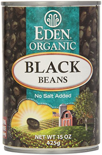 Eden, Organic, Black Beans, No Salt Added, 15 oz