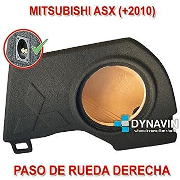 MITSUBISHI ASX (+2010). RUEDA DERECHA - CAJA ACUSTICA PARA SUBWOOFER ESPECÍFICA PARA HUECO EN EL MALETERO: Amazon.es: Coche y moto