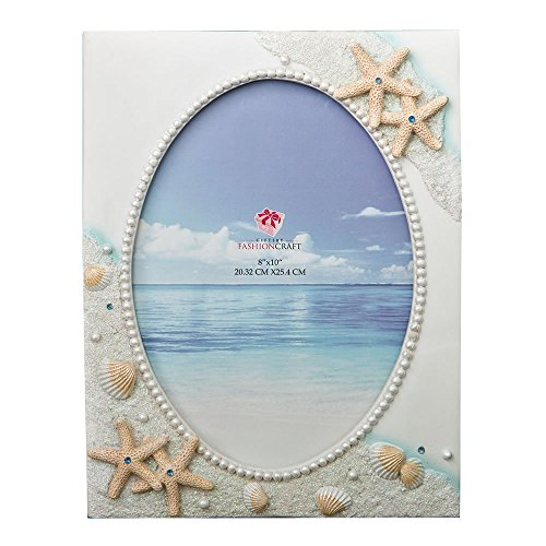 Glorious Hand painted Beach 8 x 10 frame from gifts by fashioncraft by Fashioncraft