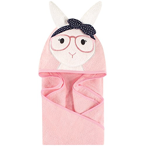 Little Treasure Animal Face Hooded Towel, Hip Bunny