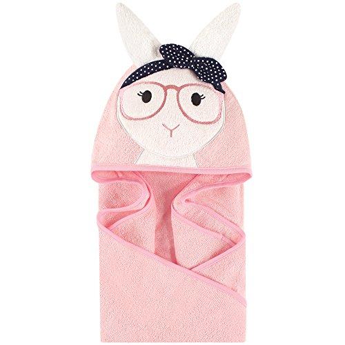 Little Treasure Animal Face Hooded Towel, Hip - Bunny Baby Bath Towel