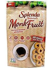 Splenda Naturals Monk Fruit Zero Calorie All Natural Granulated Sweetener
