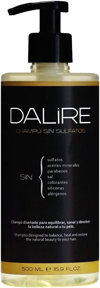 Champú Sin Sulfatos Dalire Bio 500ml Mejor Champú 2021 Premio Healthhair 2021 Fabricado En España El Más Usado Por Dermatólogos Y Peluquería Sin Parabenos Sin Sal Sin Tóxicos Amazon Es Belleza
