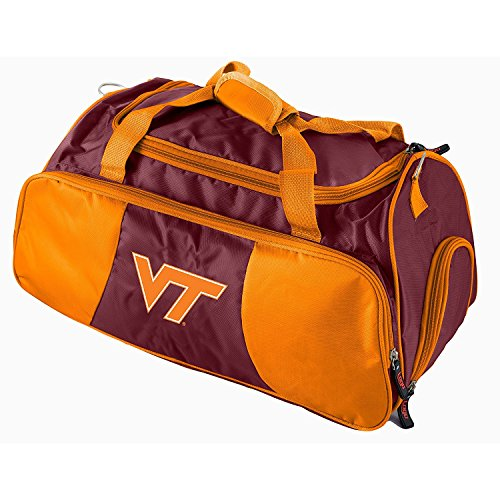 Dark Purple Orange Virginia Tech Duffle Bag, Team Logo Front, Polyester by OTSK