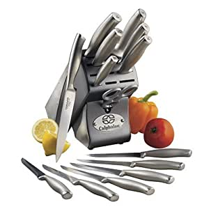 Calphalon Contemporary Stainless-Steel 15-Piece Knife Block Set