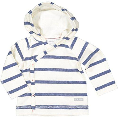- Polarn O. Pyret Sailor Stripe ECO Hoodie (Newborn) - 0-1 Month/Snow White