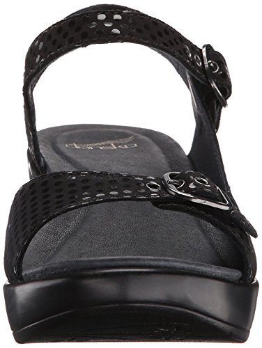 discount geniue stockist Dansko Women's Joanie Black Dots Wedge Sandal Black Dots with credit card online F28jBgv