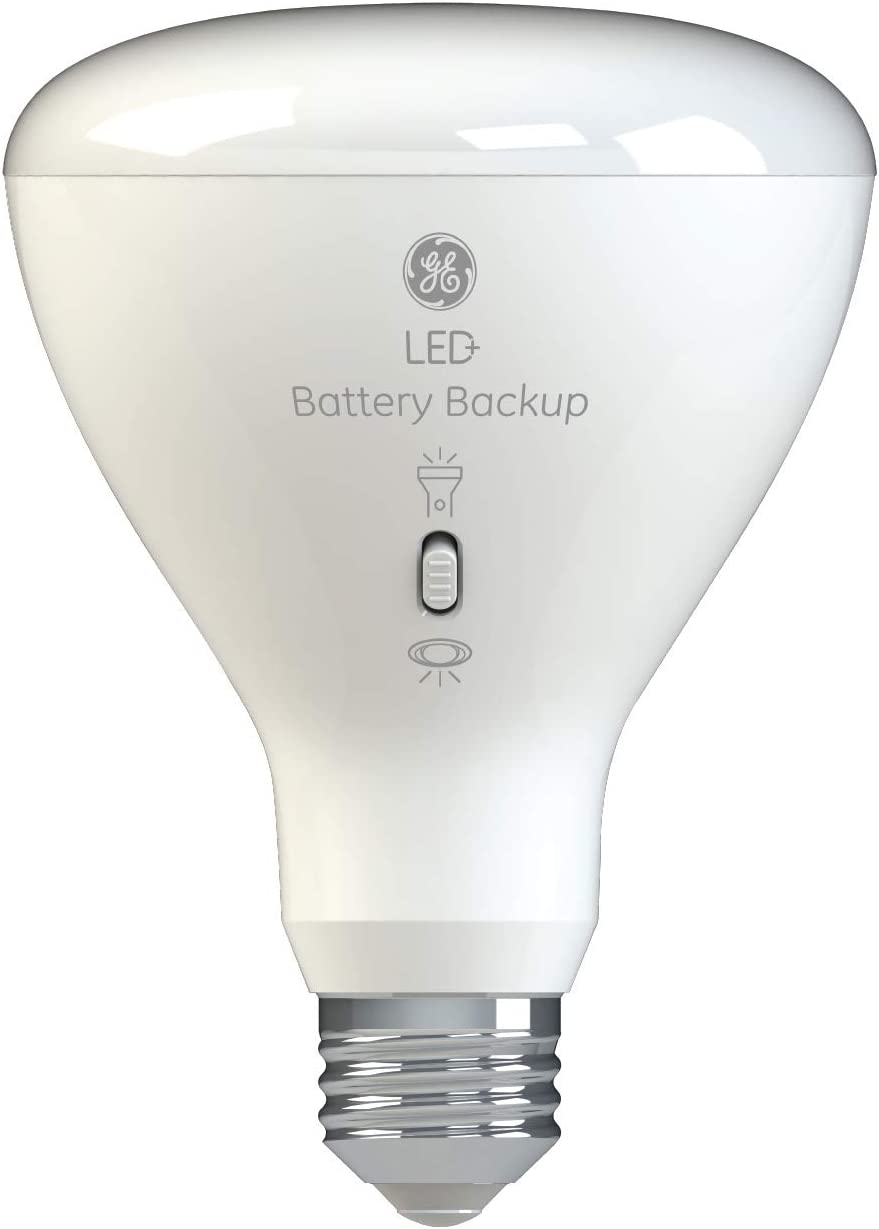 Led Backup Battery Light Bulb Br30 Emergency Light Bulb 65 Watt Replacement Soft White Rechargeable Light Bulbs For Power Outages