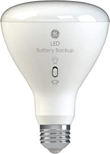 GE Lighting LED+ Battery Backup BR30 Bulb, 65-Watt Replacement, Soft White