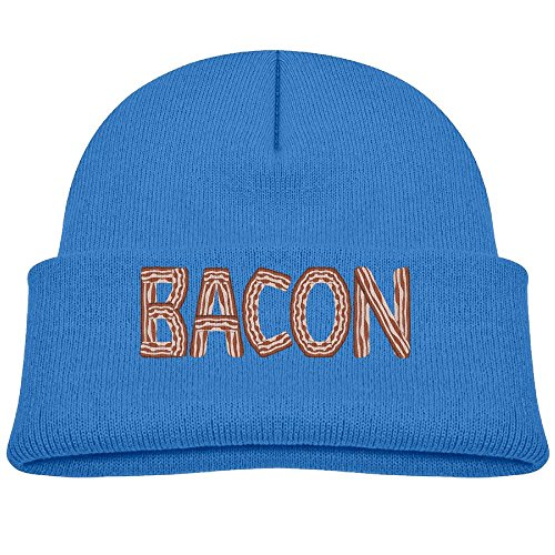 Child Bacon Unisex Cotton Beanie Hat For Cute Baby Boy/Girl Soft Toddler Infant Cap Royalblue