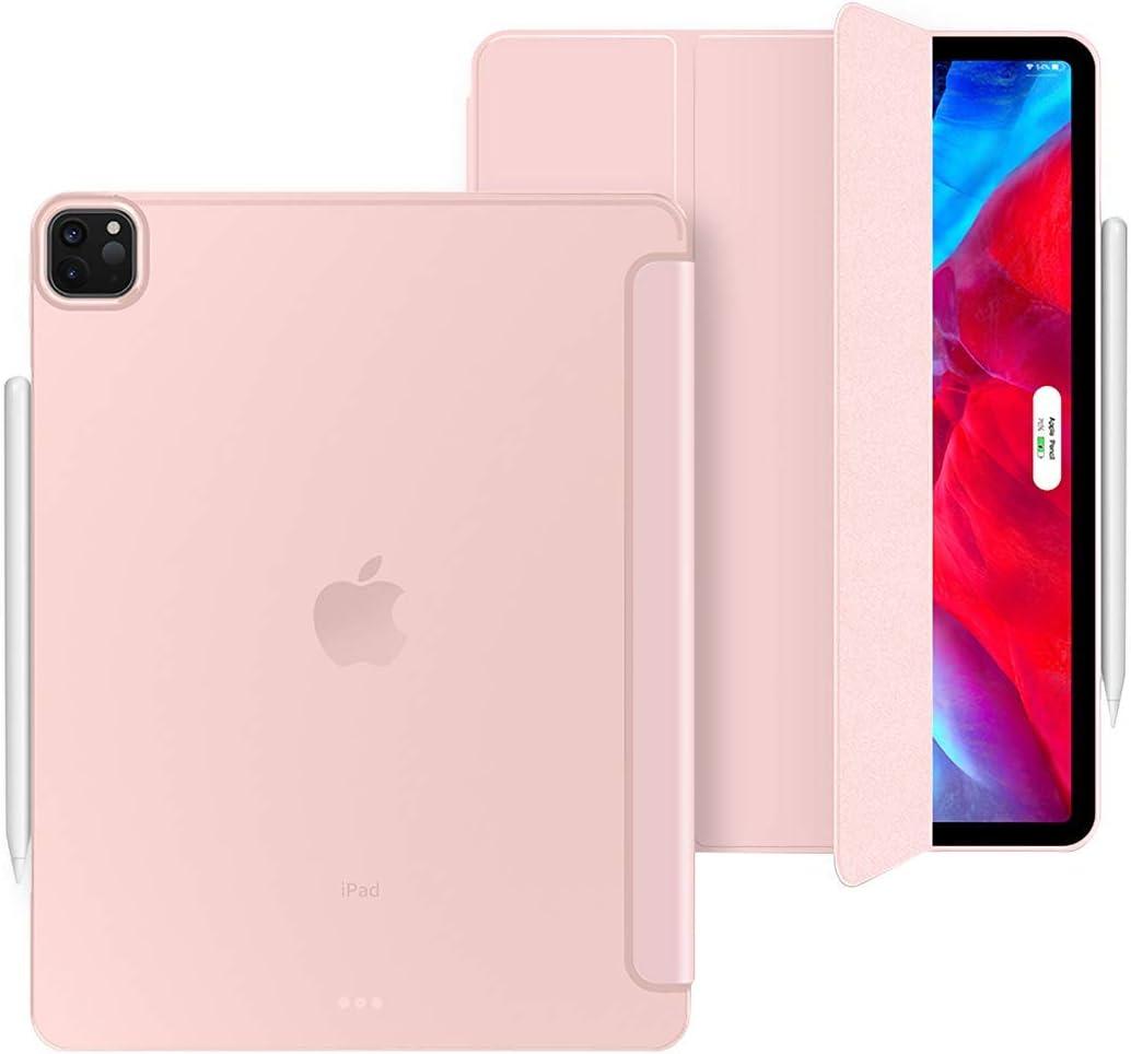 Aidashine Funda para iPad Pro 11 2020, Estuche Delgado Inteligente con Reposo/activación automático, contraportada Suave Transparente, [Admite Carga inalámbrica Apple Pencil 2],Rose Gold: Amazon.es: Electrónica