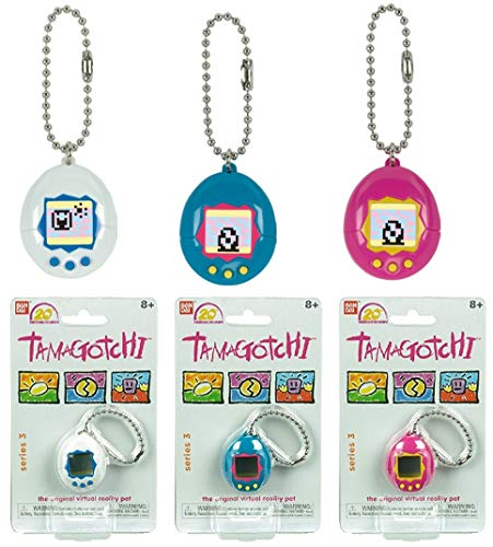 (Tamagotchi Mini White/Blue, Blue/Pink & Pink/Yellow Bundle)