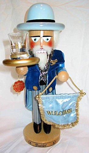 Retired Signed Herr Christian Steinbach *Butler* Wooden Nutcracker by Steinbach