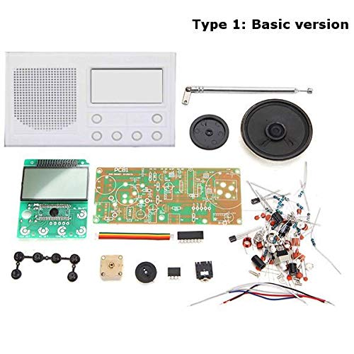 YOOJOP DIY FM Radio Kit Electronic Learning Suite Accessories Produced by YOOJOP (Color : White, Size : 001)