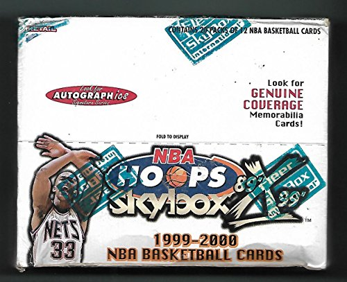 1999-2000 FLEER SKYBOX HOOPS X DECADE BASKETBALL 20 PACK BOX WITH AUTOGRAPHICS !