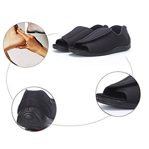 019ff33118eef hot sale 2018 Men s Diabetic Footwear Extra Wide Slippers Adjustable  Orthopedic Shoes Open Toe for Diabetic