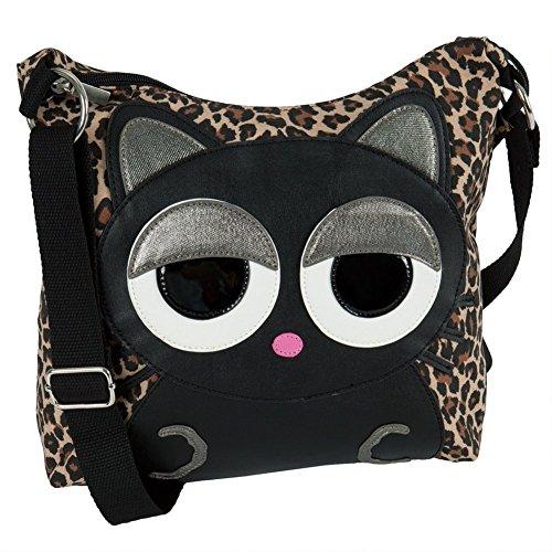 Cat Sleepyville Face Canvas Cross Body Shoulder Bag