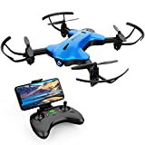 (US) DROCON NINJA FPV Drone with 720P HD Wi-Fi Camera Live Video Feed 2.4GHz 6-Axis Gyro Quadcopter for Kids and Beginners with Altitude Hold, Foldable Arms, One Key Take off/Landing, Color Blue
