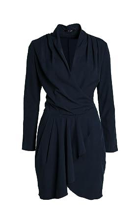 Julie Brandt Karina Kleid In Blau Amazonde Bekleidung