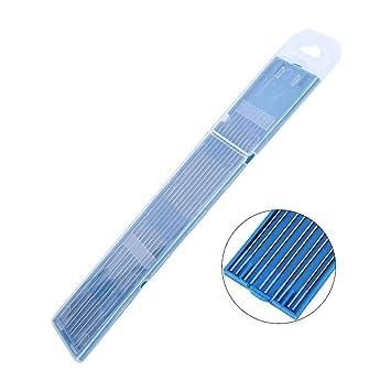 Electrodos de soldadura, 10pcs Electrodos de soldadura de tungsteno Electrodo de Lanthanated Punta azul 1.0/1.6/2.4mm(1.0 x 150mm): Amazon.es: Bricolaje y ...