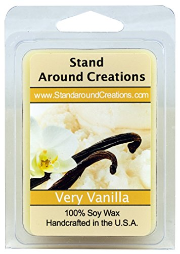 Very Vanilla Wax Melt Tart: 100% All Natural Soy Wax - Intense vanilla aroma, subtle touch of cream, and exceptional performance. - 3oz - Naturally Strong Scented