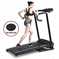 Fitnessclub 500W Folding Electric Motorized Treadmill Portable Running Gym Fitness Machine