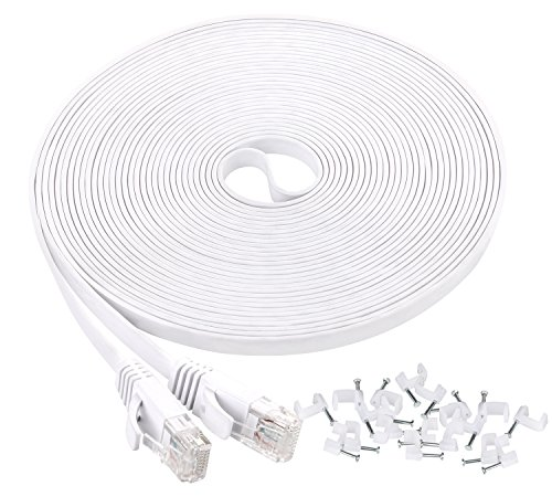 cat6 ethernet cable 25ft  flat internet network cable slim