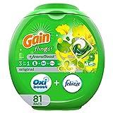 Gain flings! Liquid Laundry Detergent Pacs, Original, 81 Count - Packaging May Vary