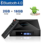 Android 7.1 TV BOX, Globmall 2018 Model X4 Android TV Box with 2GB/16GB Amlogic Quad Core A53 processor 64 bits Bluetooth 4.0 Real 4K Playing