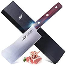 15V 6 inch Heavry-Duty Meat Cleaver Knife - Butcher Knife -High Carbon German Stainless Steel - Full Tang Bone Chopping Knife with Pakkawood Handle - Onimaru Series