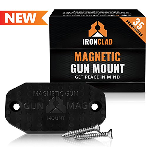 Firearm Gun Magnet | 35 lbs Firearms Magnets | Rubber Coated Firearm Car Gun Magnets | Magnetic Firearm Holster Holder for Handgun, Rifle, Shotgun, Pistol, Revolver, Truck, Car, Wall, Vault, Desk