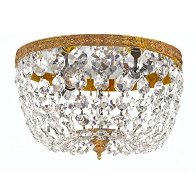 Crystorama 710-OB-CL-I Richmond - Two Light Flush Mount, Clear Italian Crystal