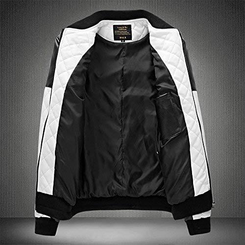 Abbigliamento Slim Laterali All'aperto In Giacche Bianca Adelina Traspirante Lunga Manica Giacca Capispalla Con Da Fit Cotone Pelle Casual Uomo Tasche PW8FWUSz