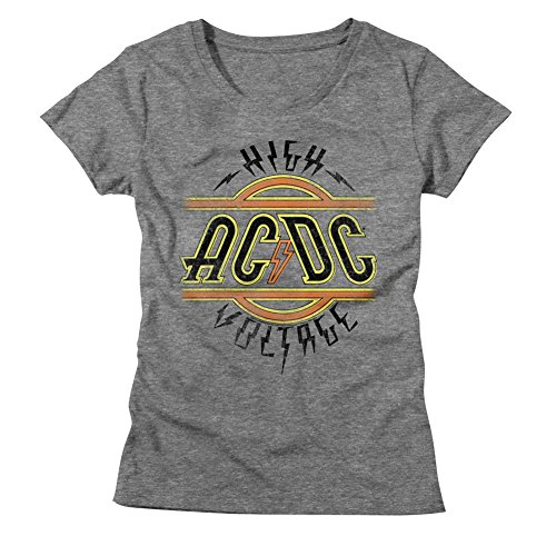 (American Classics AC/DC Hard Rock Band Music High Voltage Album Womens T-Shirt Tee)