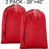 BGTREND 2 Pack Extra Large Laundry Bag [28''×40''] Machine Washable Sturdy Rip-stop Material with Drawstring Closure