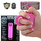 Streetwise Sting Ring 18 Million Volt Stun Gun & Police Magnum OC-17 Pepper Spray Bundle, Perfect for Holiday Giving - Pink