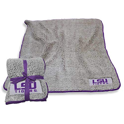 Logo LSU Tigers NCAA Frosty Fleece 60 X 50 Blanket - Purple,]()