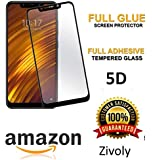 Canyon™ 5D 2Pack Tempered Glass Hardness Anti-Fingerprint 0.33mm HD+ View Crystal Clear - Full Glue Edge-Edge Screen Protection for Xiaomi Mi A2 Tempered Glass (Black)