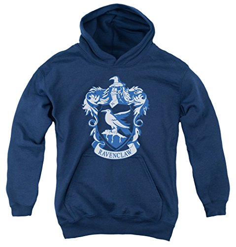 A&E Designs Kids Harry Potter Ravenclaw Crest Youth Hoodie, Navy Blue, ()
