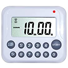 Digital Kitchen Timer – ZWOOS Counts Down and Up Magnetic Clock Cooking Timer Loud Alarm LCD Screen with Stand Function