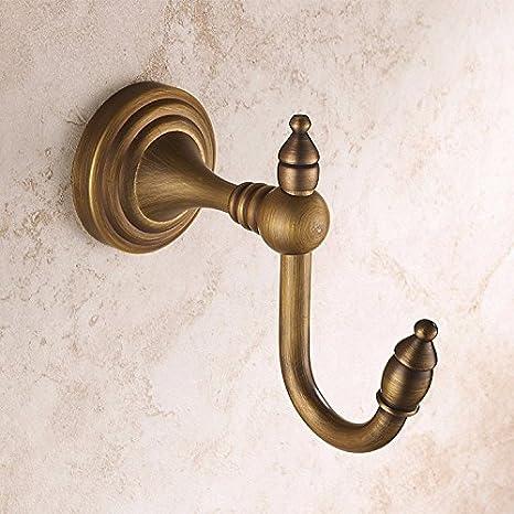 Gancho para toallas vintage FDLK,Unión cobre antiguo montado en la pared percha ganchos percheros