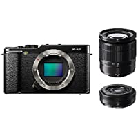 16.3 Million Pixel  F X-m1s/1650/27kit Fujifilm Digital Single-lens Camera X-m1 W Lens Kit Zoom Lens Attached (Black)