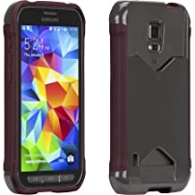 Case-Mate Samsung Galaxy S5 ACTIVE POP! ID Case With Card Holder - Retail Packaging - Grey / Red - Exclusively Made for Galaxy S5 ACTIVE