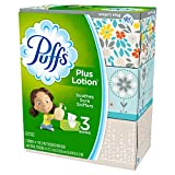 Puffs 82086CT Plus Lotion Facial Tissue, White, 2-Ply, 116 per Box, 3 Boxes per Pack (Case of 8 Packs)