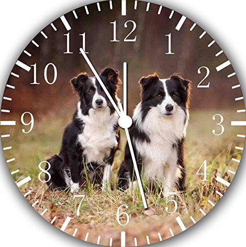 Border Collie Frameless Borderless Wall Clock F42 Nice for Gift or Room Wall Decor